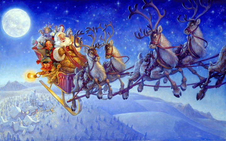 Image result for image of santa's sleigh