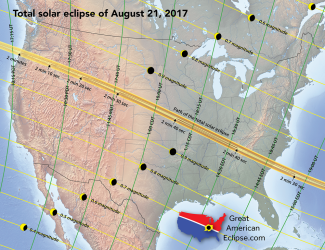 Image result for map of the eclipse path