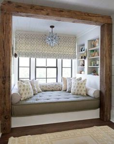 1 Wood beams and window