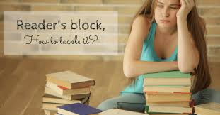 Image result for image of reader's block