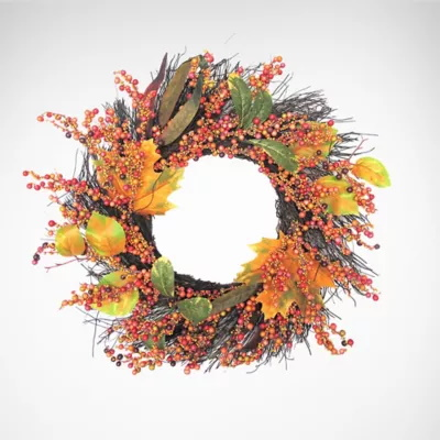 This image has an empty alt attribute; its file name is autumn-wreath.jpg